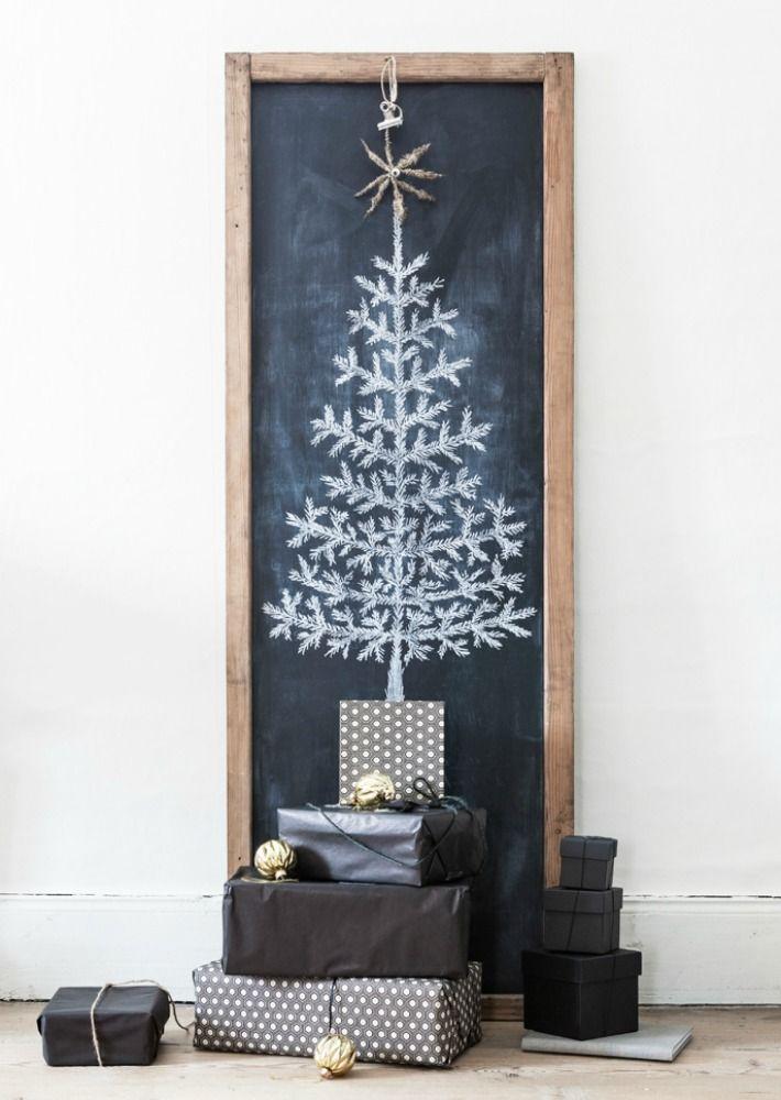rboles de navidad en pizarra decoraci n navide a. Black Bedroom Furniture Sets. Home Design Ideas