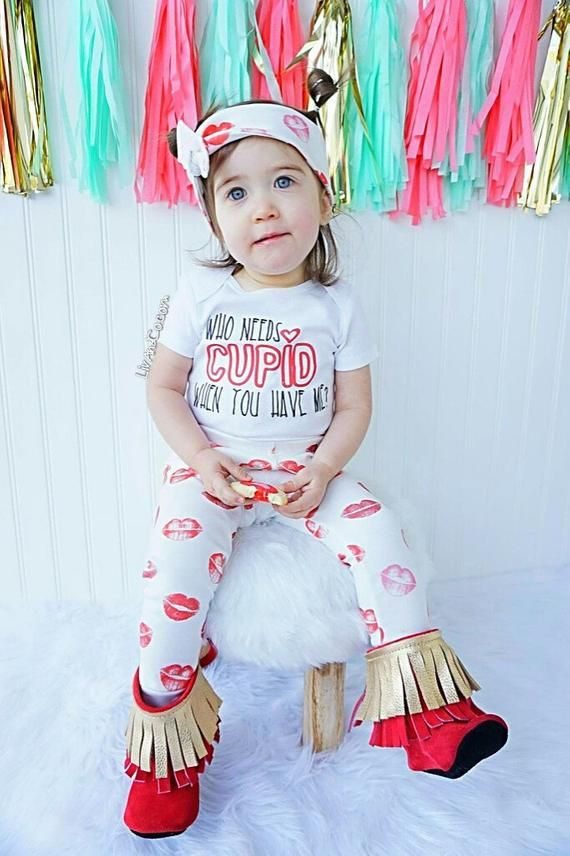 48d331b06 Who Needs Cupid Valentines Day Baby Outfit, Boy Valentines Day Outfit, Girls  Valentine Shirt, Valent
