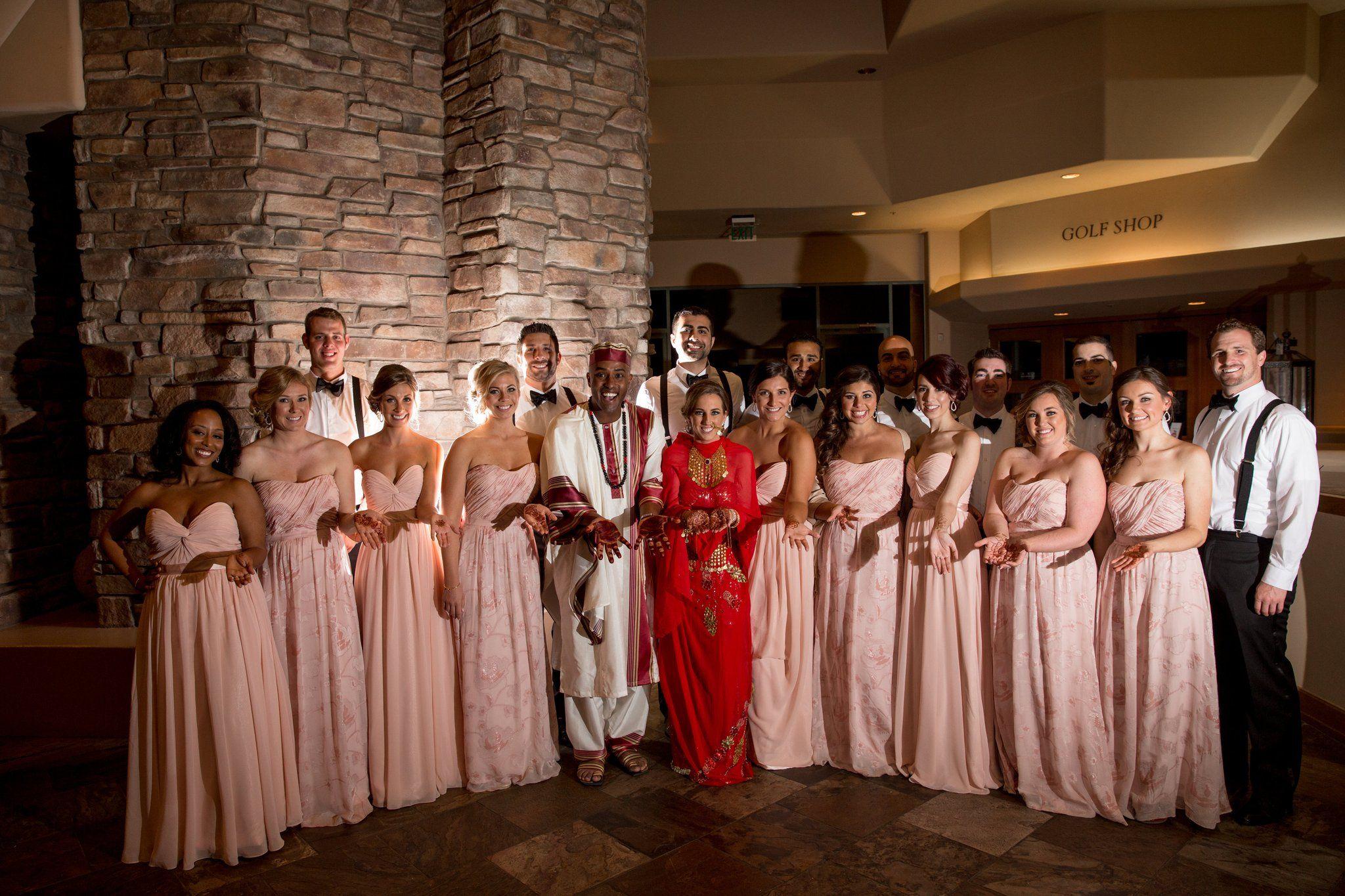 Vendors golf clubs interracial wedding and reception