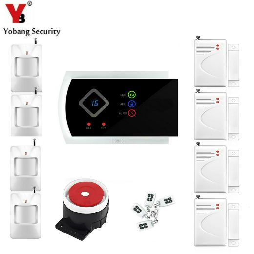 YobangSecurity 99 Wireless 2 Wired Zones G10A GSM SMS Home House Security Alarm  System Android APP