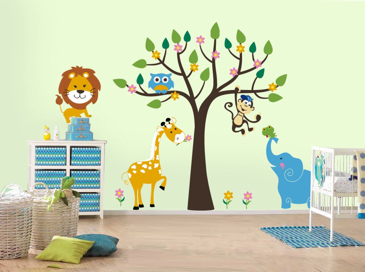 Funny Little Animals On The Walls Of The Nursery Products I Love