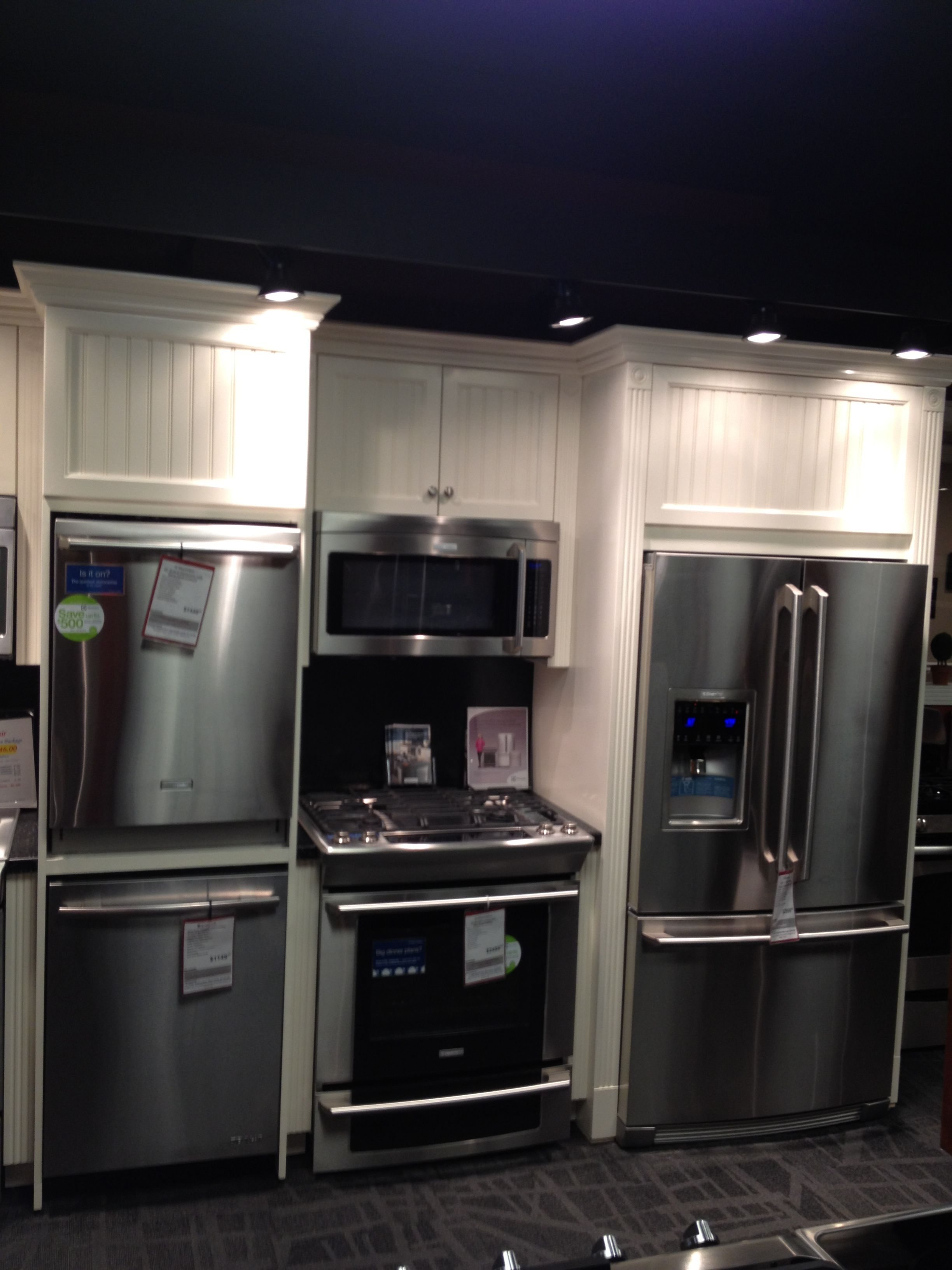 Electrolux Kitchen Package At Gerhards Appliances ;French Door Refrigerator,  Slide In Gas Range,