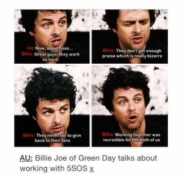 Billie Joe Armstrong in full support of 5sos