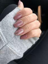 Photo of Akryl kistegler lilla rosa glitter AkrylNegler Rund # designe #designerdeinterio …