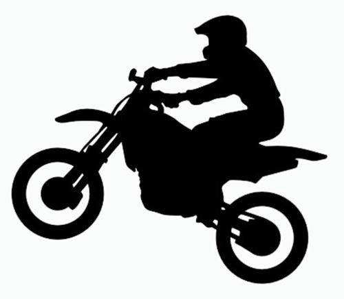 dirt bike silhouette - Recherche Google | chambre david ...