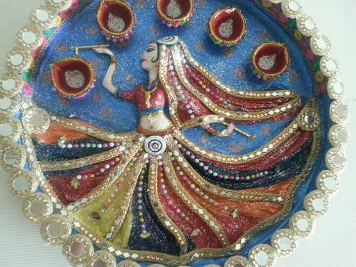 Arti thali decoration cd crafts hobbies and for kids arts diwali decorations festival indian also aayushi kanungo aayushikanungo on pinterest rh