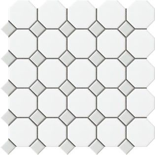 Octagon And Dot With Gray Dot Tile Floor Daltile Octagon Tile