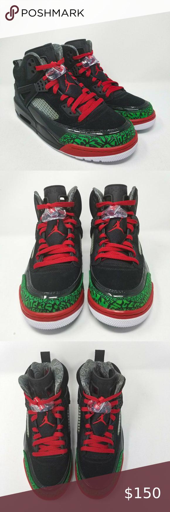 Jordan Spizike Black Red Green