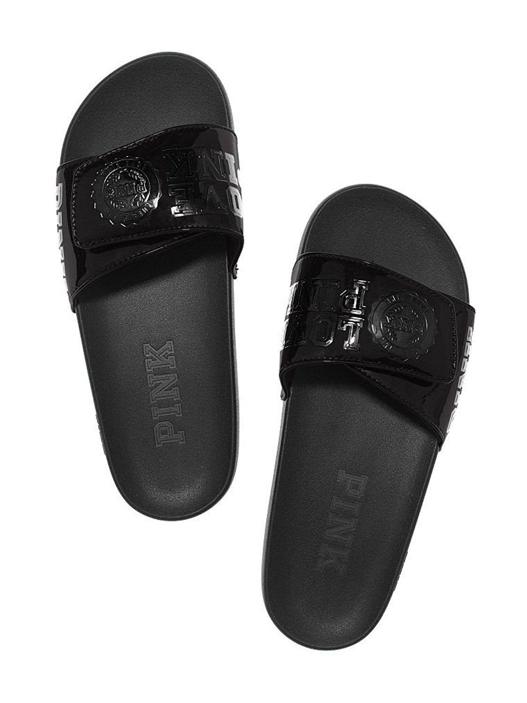 7eef914661f87 Victoria's Secret Crossover Comfort Slide Glossy Pure Black - Small ...
