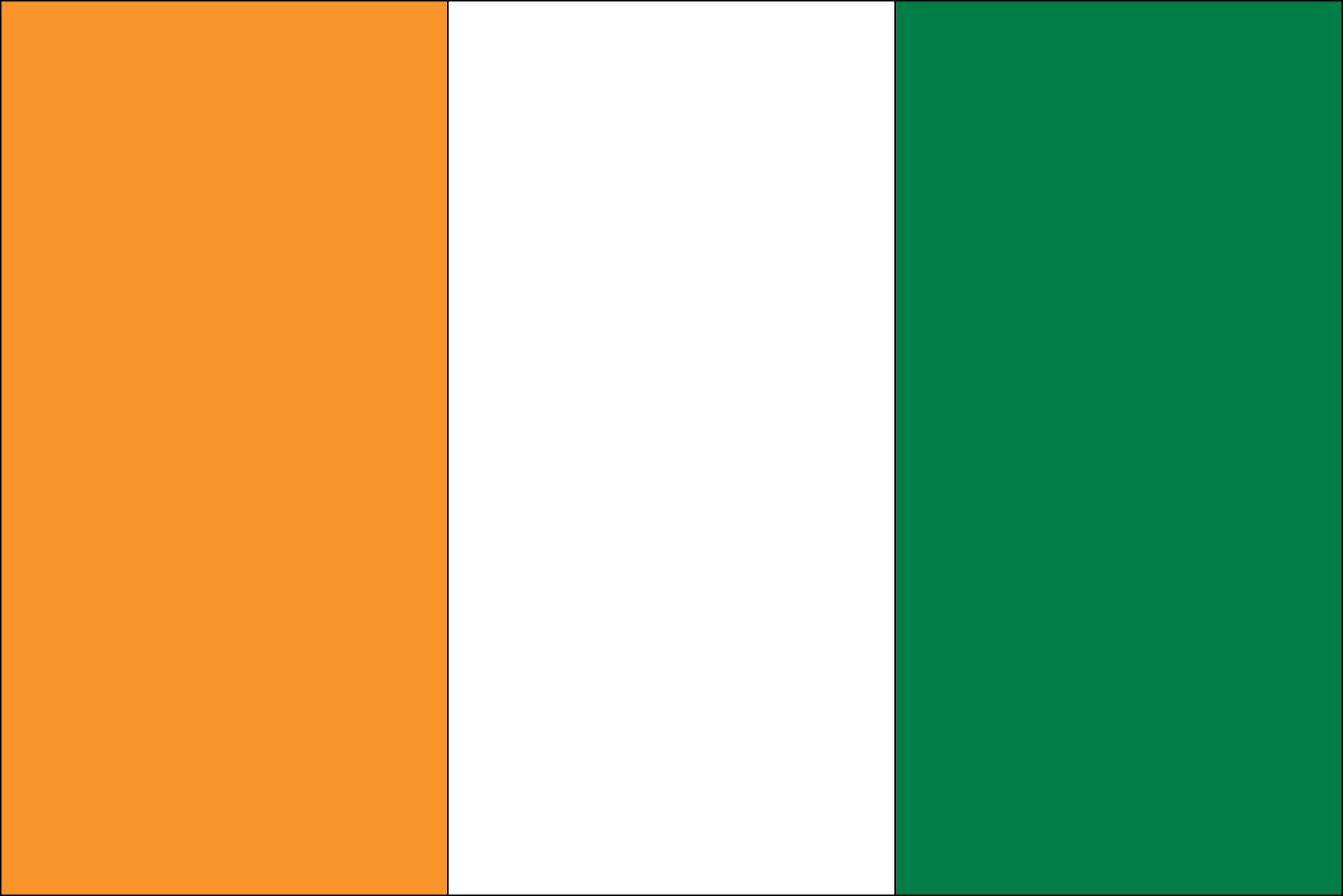 The Flag Of Ivory Coast Features Three Equal Vertical Bands Of