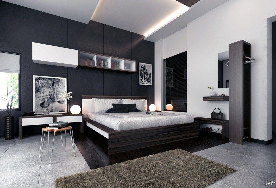 white black brown modern bedroom furniture interior design ideas