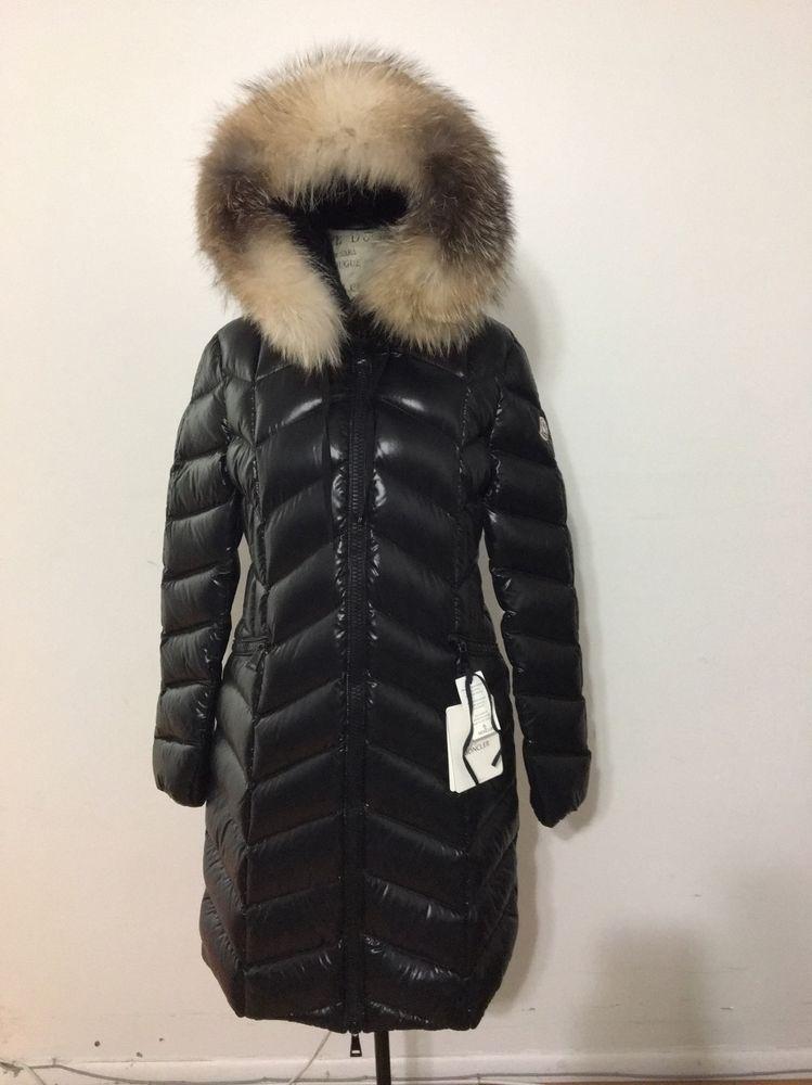 women s moncler bellette lacquer down coat with fur trim size 5 x rh pinterest com