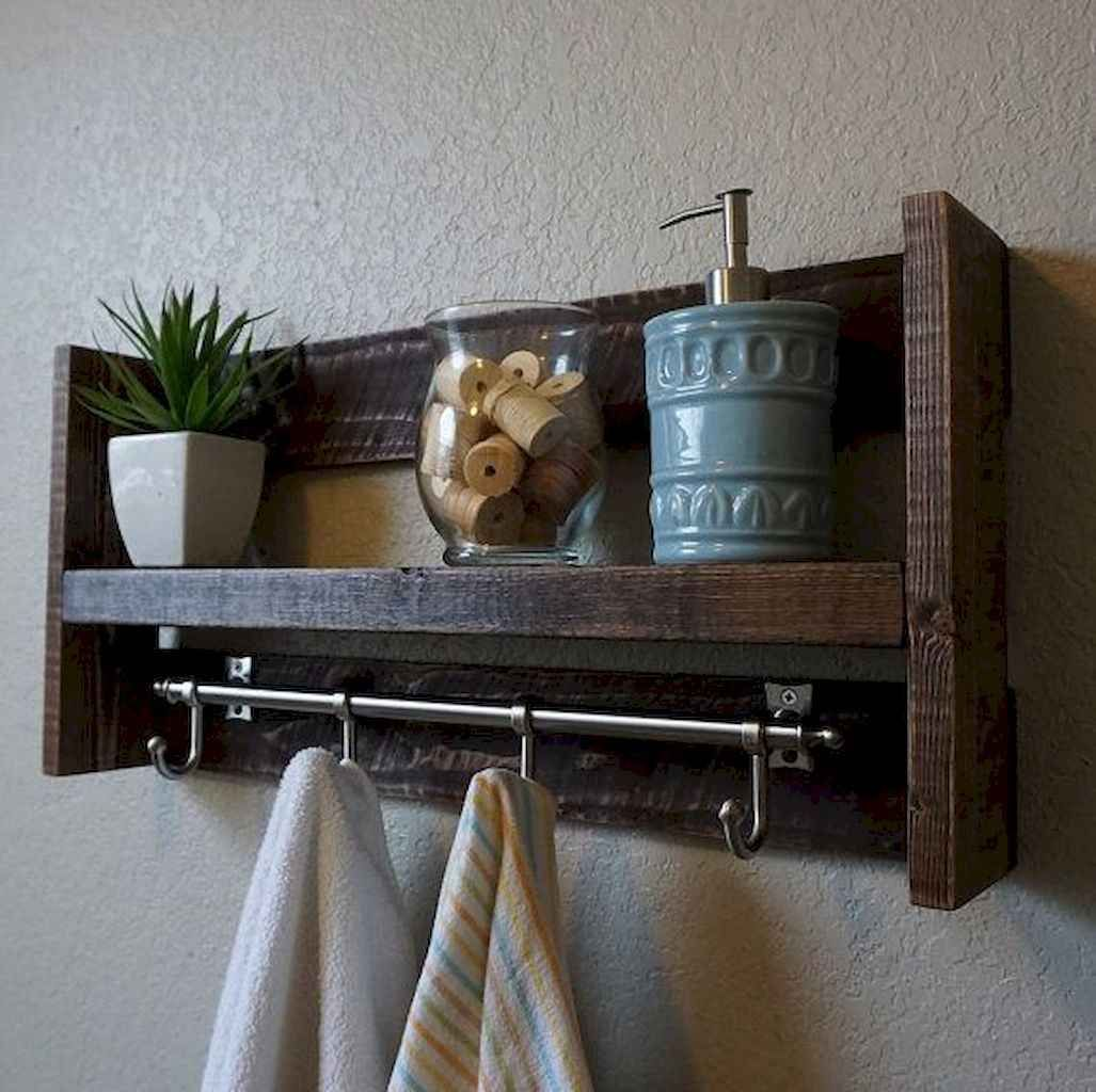 55 Rustic Bathroom Shelves Storage Ideas In 2020 Rustic Bathroom Shelves Rustic Towels Towel Rack