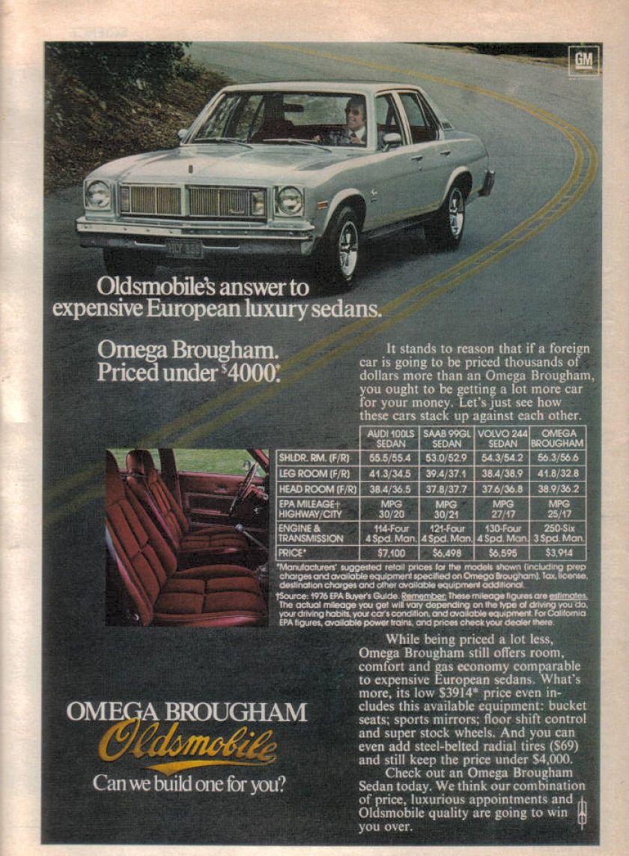 Oldsmobile Omega Brougham 1976 | Vintage Cars | Pinterest | Cars ...