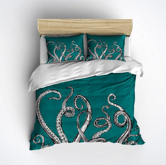 Fleece Octopus Bedding Octopus Tentacle Design Any By