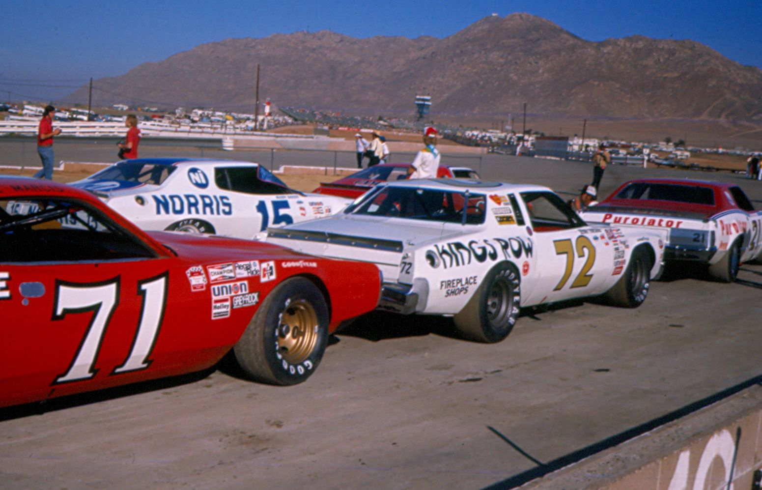 1976 Dave Marcis swoopy charger. Nascar rules allowed a production ...