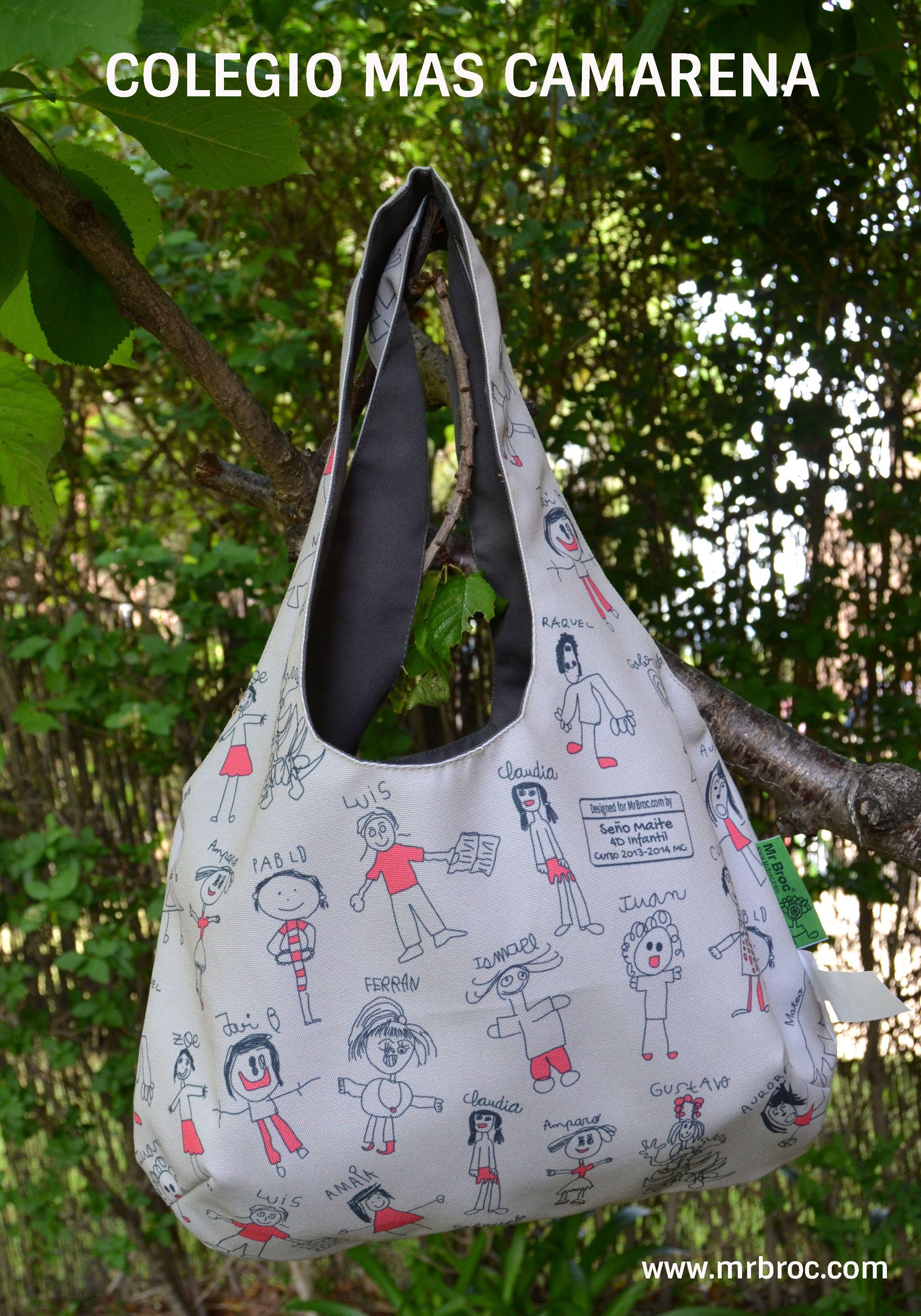 09385d97ee9 Broc Bolso personalizado con los dibujos de los alumnos del Colegio Mas  Camarena. El regalo mas precioso para una profesora. www.mrbroc.com