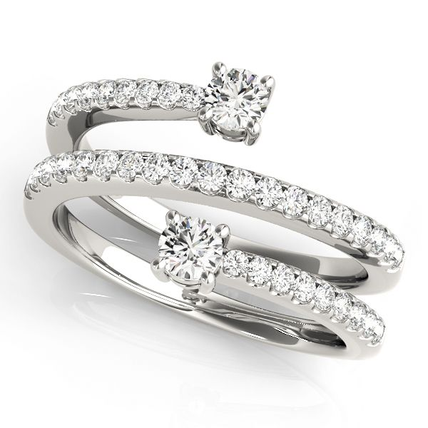 Spiral Duo Diamond Ring modern Pinterest Spiral Diamond and Ring