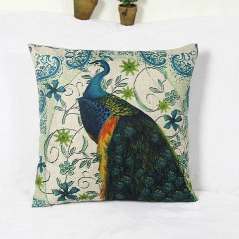 Wholesale Peacock and  Blossom Pattern Home Hold  Decorative Pillow Case