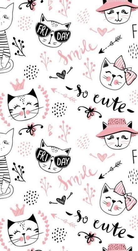 Best Cats Wallpaper Iphone Pattern Kitty Ideas