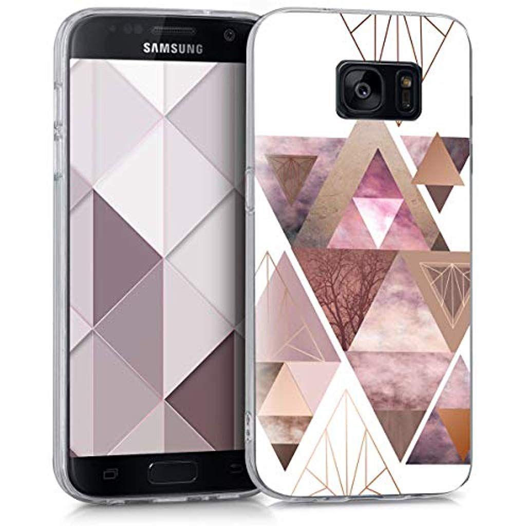Kwmobile Samsung Galaxy S7 Hulle Handyhulle Fur Samsung Galaxy S7 Handy Case In Glory Dreieck Muster Design Rosa Handy Schutzhulle Handy Case Apple Iphone