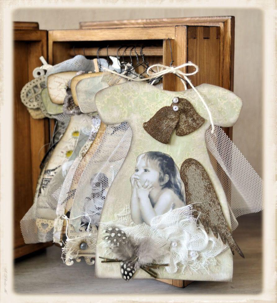 Guria Last Dresses Altered Book Art Paper