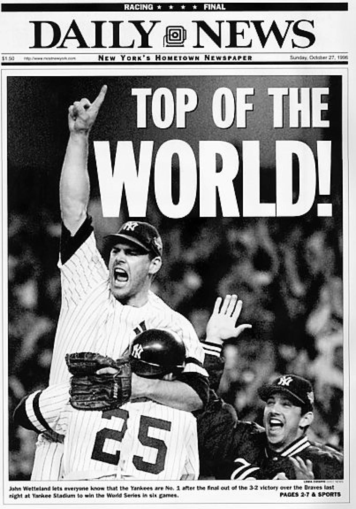 27 Yankees World Series Titles 27 Daily News Covers Slide 23 Yankees World Series New York Yankees New York Yankees Baseball