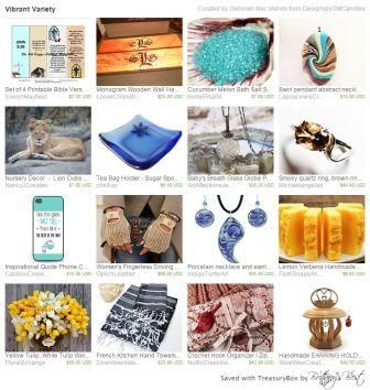 """""""Vibrant Variety"""" What a lovely collection if great gift and personal ideas ... bath salts, necklaces, lacy gloves, phone case, earring holder, crochet hook holder, and more..."""