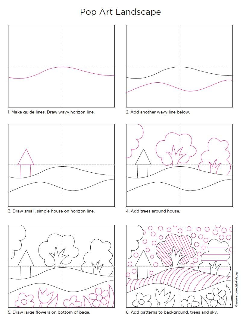 Pop art landscape landscape drawings landscaping and drawings step by step how to landscape drawing pooptronica Image collections
