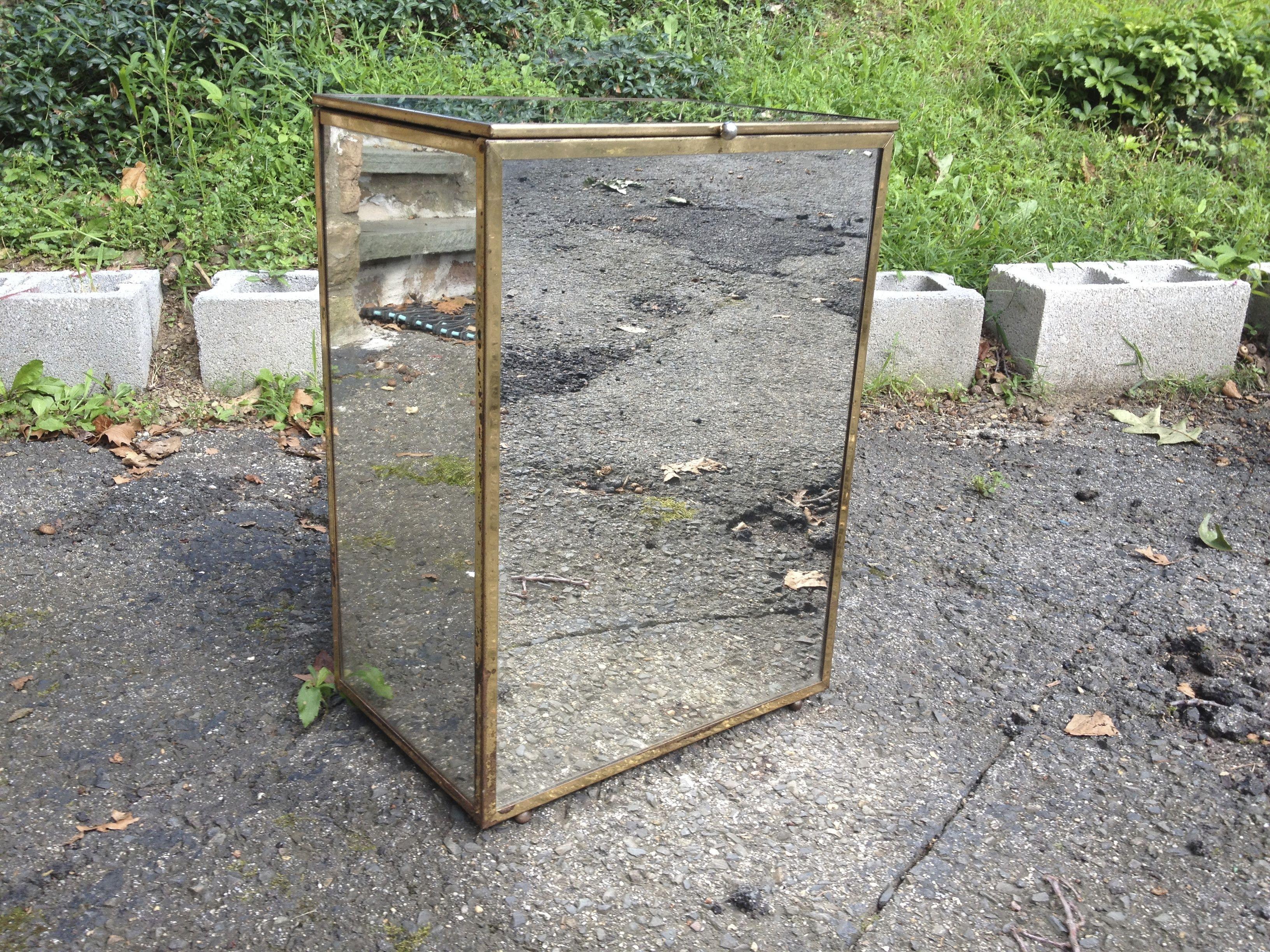 Best Mid Century Modern Glamour Mirrored Hamper Midcentury 640 x 480