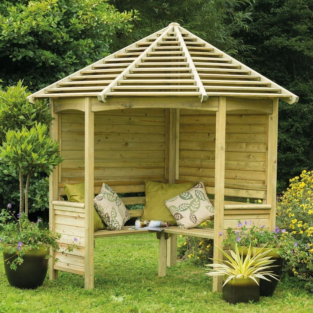 Garden Seat With Roof In 2020 Garden Arbour Seat Backyard Gazebo Garden Bench Seating