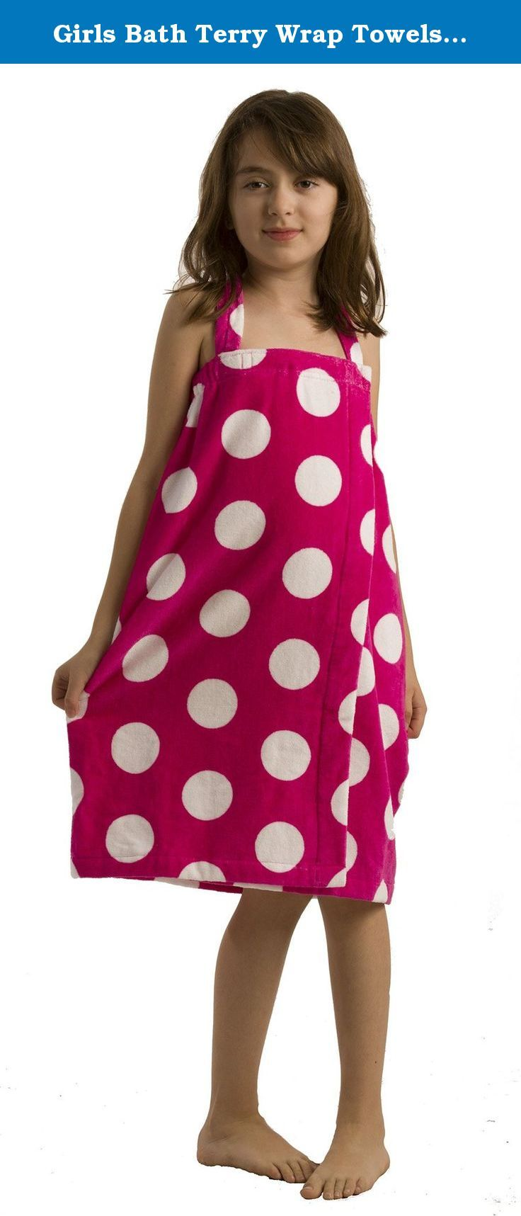 Apple Green Small BY LORA 100/% Terry Cotton Polka Dotted Girls Robe