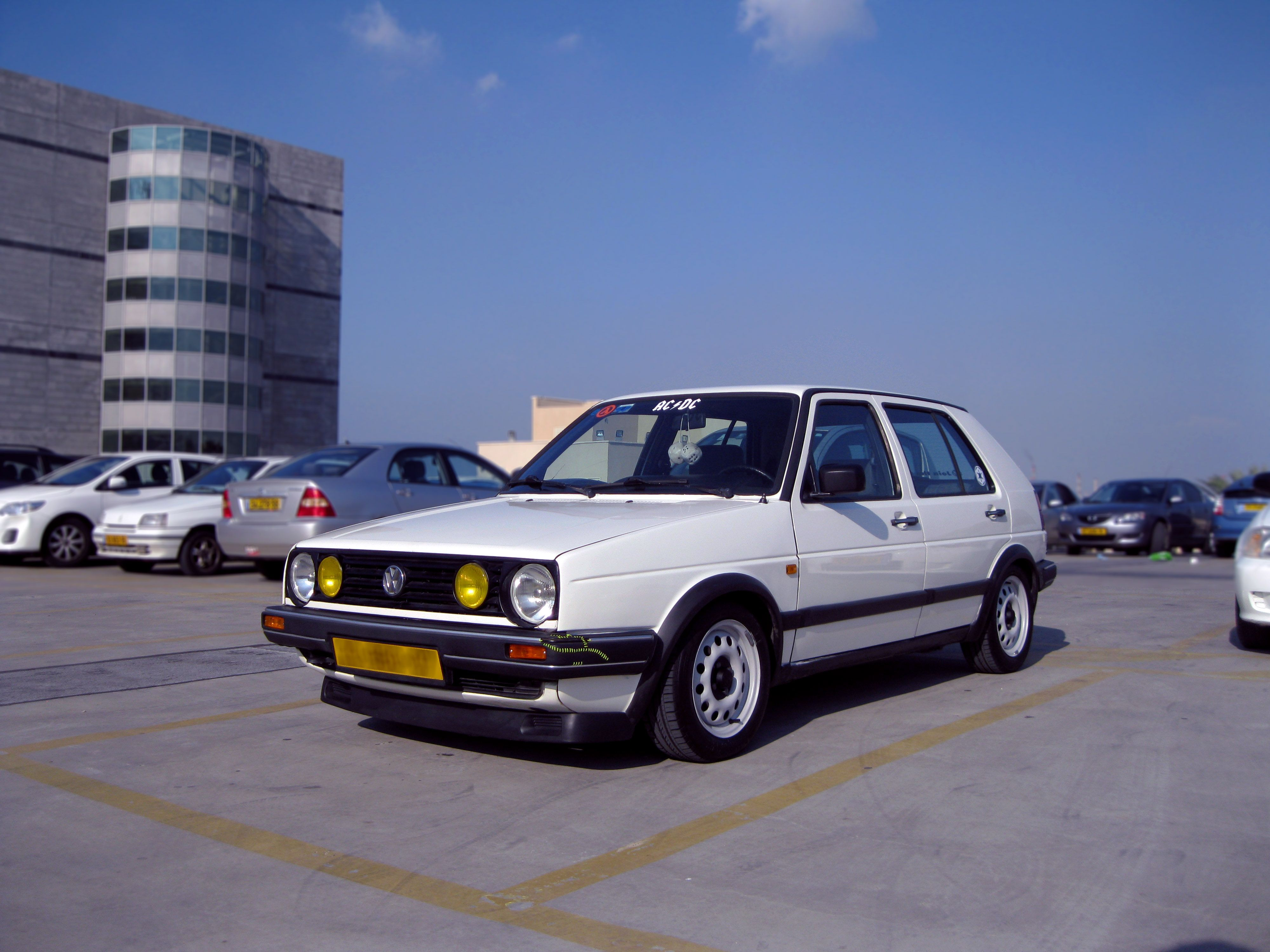 white golf mk2 1.3 with a stitched front bumper | cars | Pinterest ...