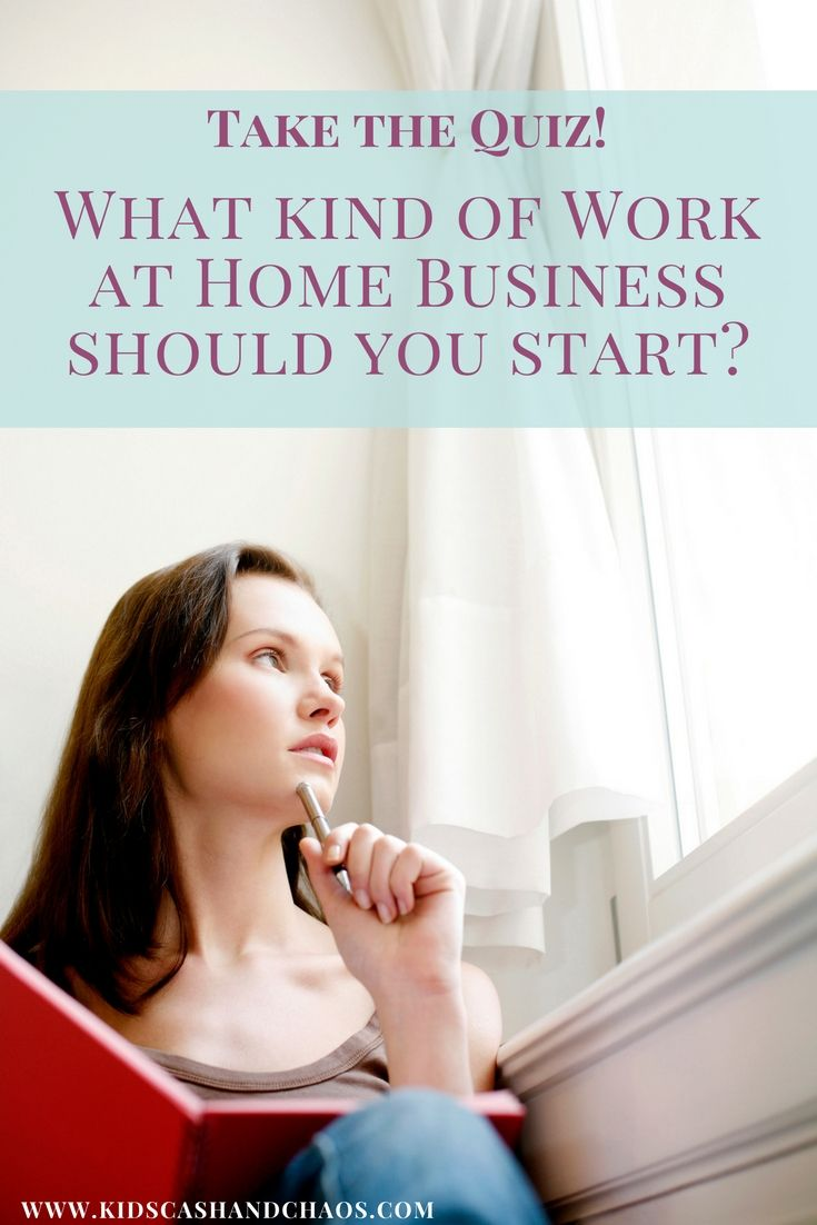 Take the Quiz! Find out what kind of work at home business you ...
