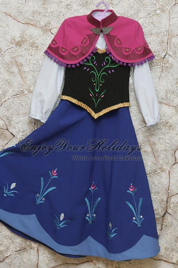 Short Cape Anna Frozen Costume Anna Frozen Cosplay Anna Frozen for ...