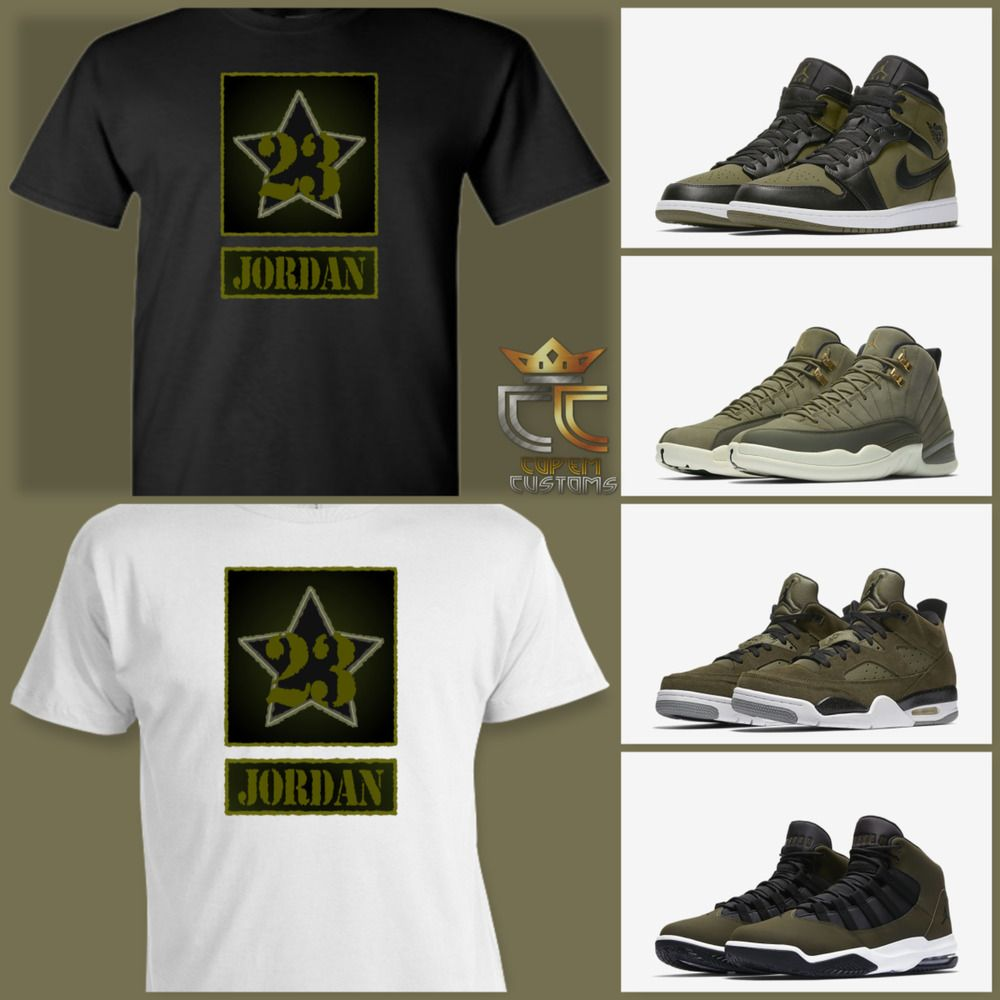 ac86cc87aa8 EXCLUSIVE TEE/T SHIRT to match ANY AIR JORDAN OLIVE GREEN/BLACK/CAMO  COLORWAY! #COPEMCUSTOMS #GraphicTee