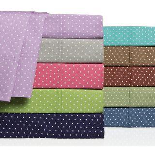 Swiss Polka-dot Colorful 300 Thread Count Cotton Sheet Set ...