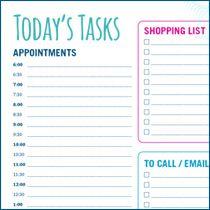Today's Tasks Printable