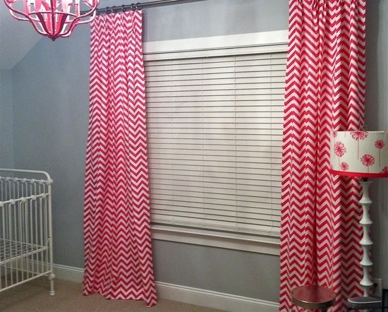 Pink Chevron Curtain Panels For The Home Hot Pink Chevron