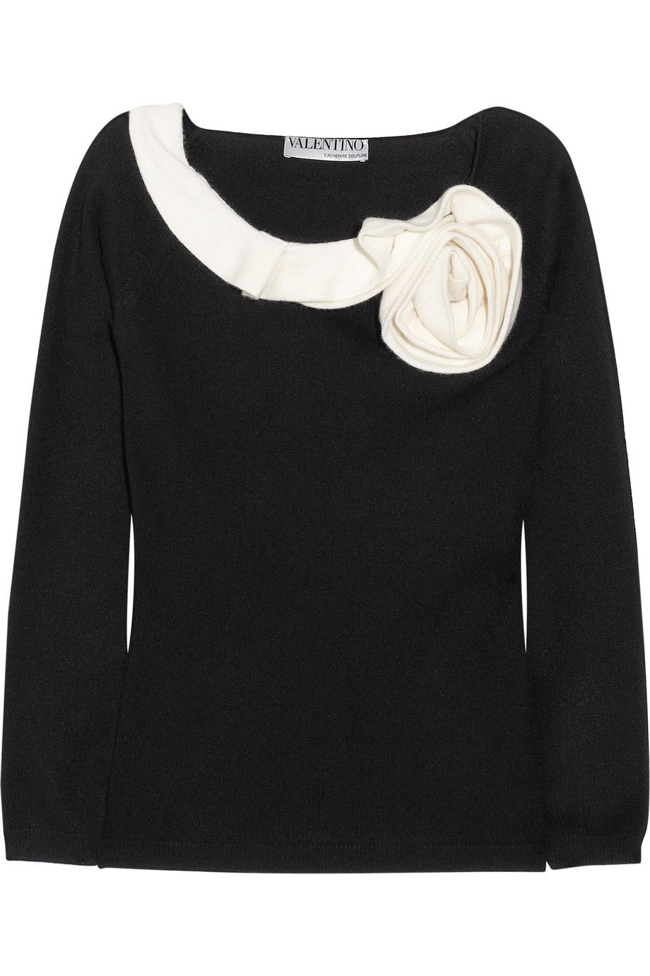 Valentino | Rosette-trimmed cashmere sweater | Love it!