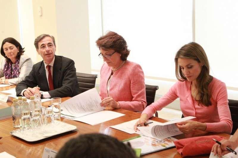Princesa Letizia: fotos presidiendo la reunión de la AECC - Princesa Letizia leyendo un documento en su reunión con la AECC. 21/06/2013