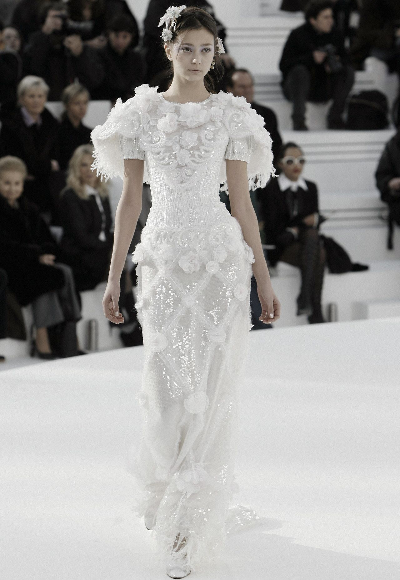 Chanel Haute Couture Spring/Summer 20   Chanel wedding dress ...