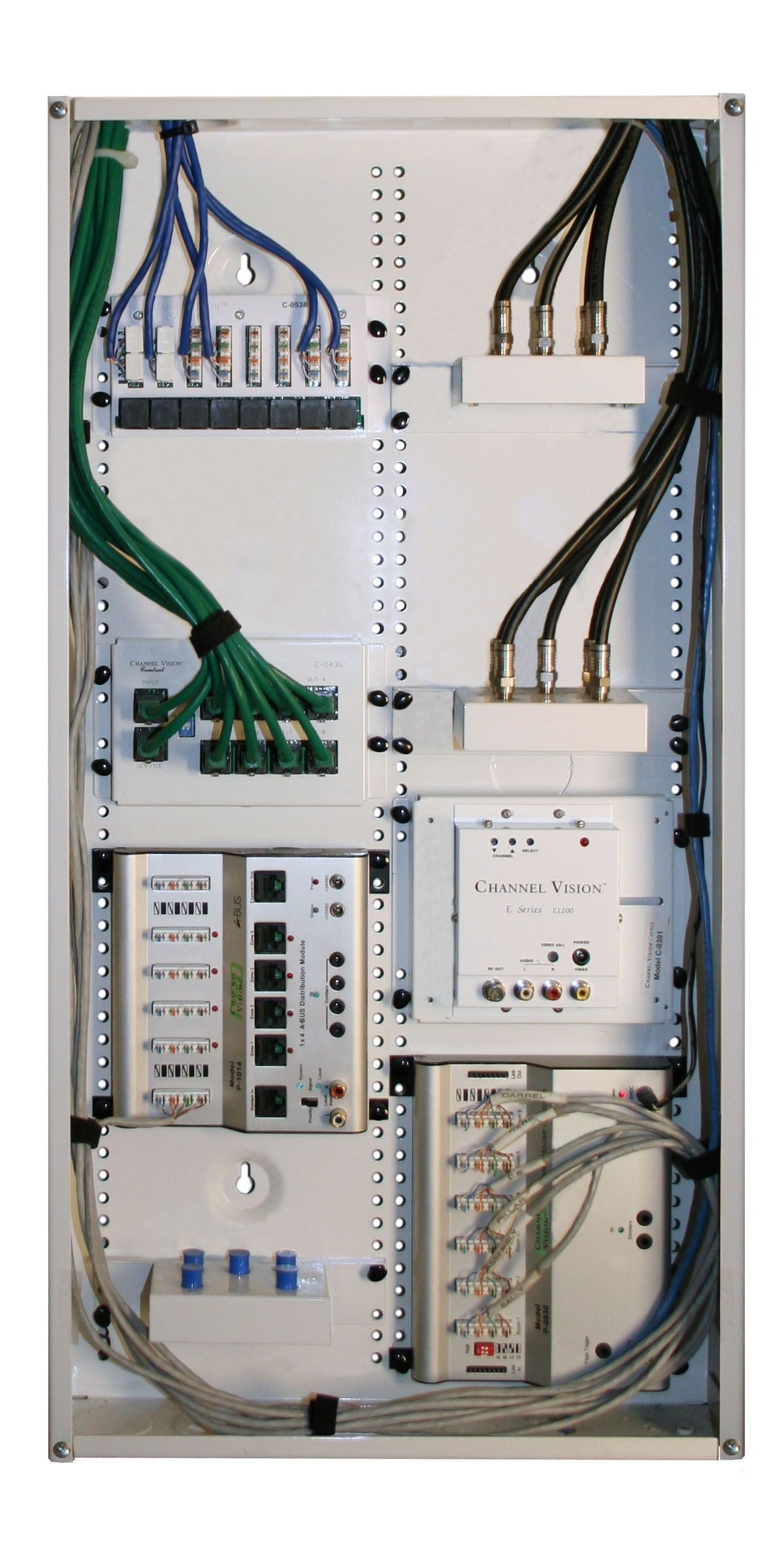 small resolution of structured wiring cable distribution panel for home tv internet audio and communications