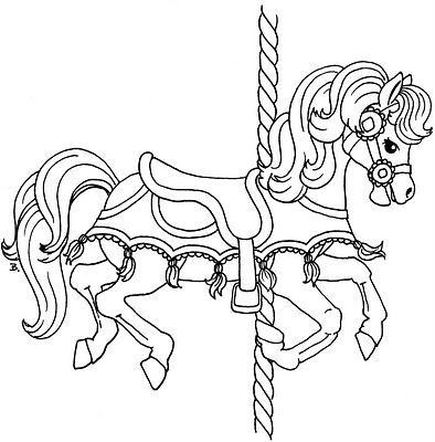 Coloriage Cheval Carrousel.Beccy S Place Carousel Horse With Tassels Coloriages Chevaux