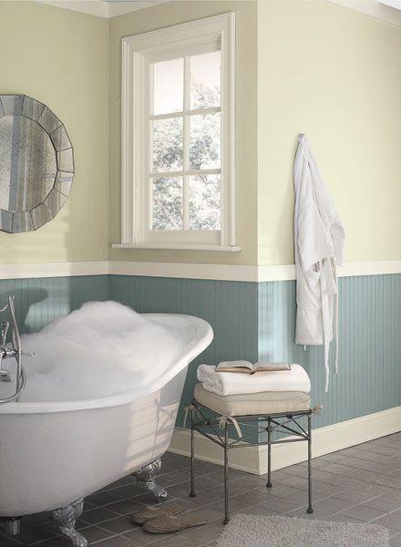 Sun Kissed Bathroom Sanctuary Tranquil Bathroom Grey Bathrooms Two Tone Walls