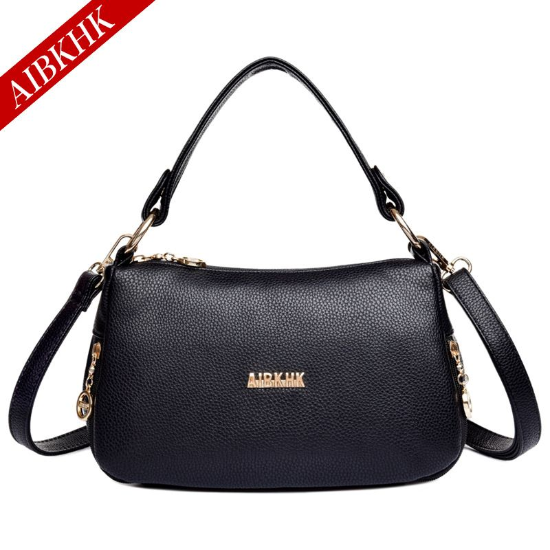 21005acec33 AIBKHK 2017 Women Bag Ladies Bags Genuine Leather Bags Handbags Women  Famous Brand Handbags Beach Fold Tote Bolsa Feminina Mujer  Affiliate