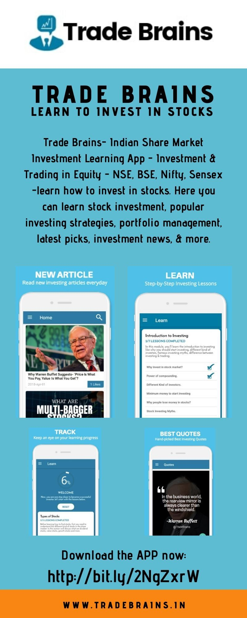 Trade Brains Indian Share Market Investment Learning App
