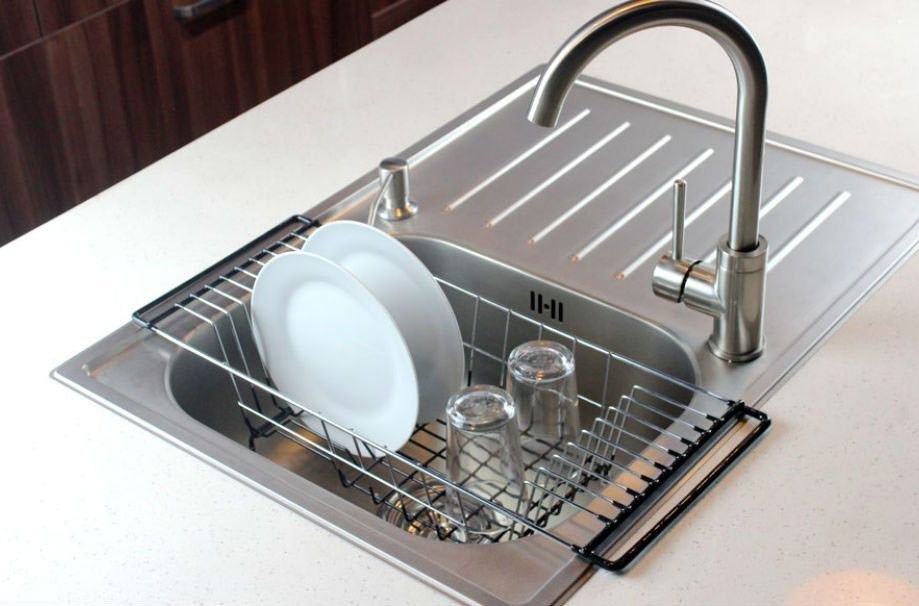 Nex 2 Tier Dish Rack Stainless Steel Dish Drainer Over The Sink