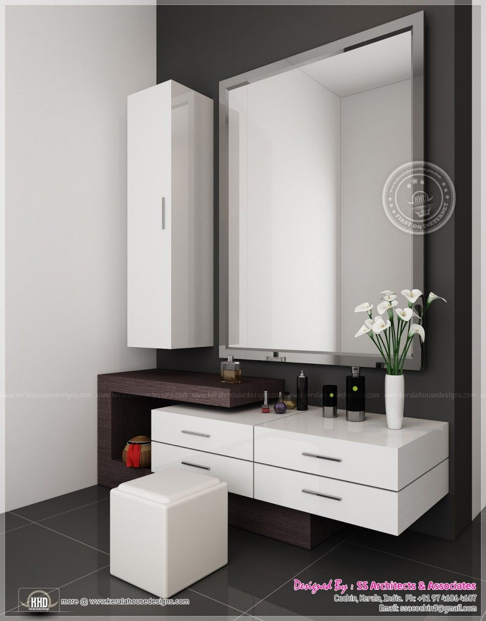Amazing modern vanity table ideas in beauty wood decorative furniture design