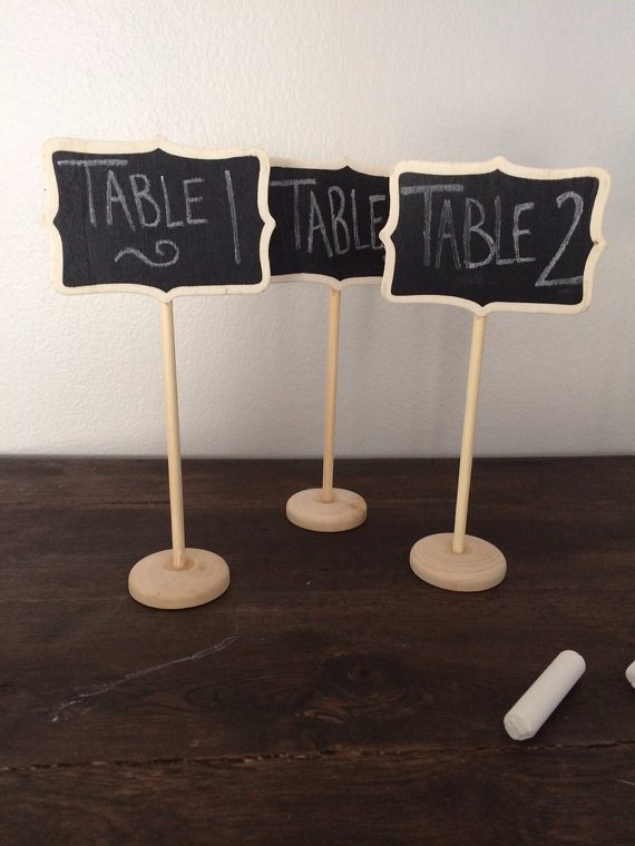 Mini Chalkboards For Tables Small Chalkboard Shabby Chic Wedding Decor Chalkboard Table